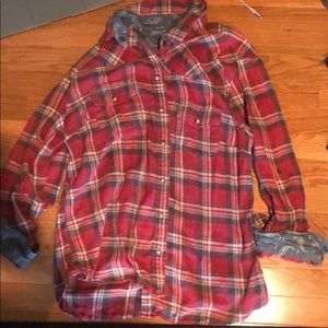 Tops - Red flannel shirt